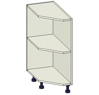 Стол торцевой скошенный открытый, 300х560х820 мм, левый, 1 кат. Лопасня мебель