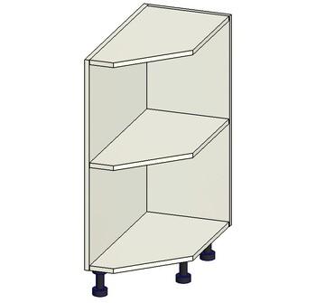 Стол торцевой скошенный открытый, 300х560х820 мм, правый, 1 кат. Лопасня мебель