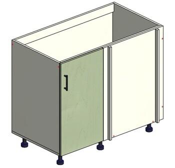 Стол угловой 1 дверь 960(1000)х555(600)х820 правый, 1 кат. Лопасня мебель