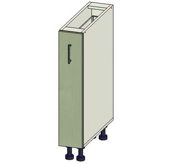 Стол под выдвижную корзину 150х515х820 мм, 1 кат. Лопасня мебель