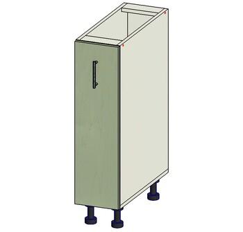 Стол под выдвижную корзину 200х515х820 мм, 1 кат. Лопасня мебель