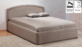 Кровать с подъемным механизмом Овальная спинка 1200, Боровичи мебель