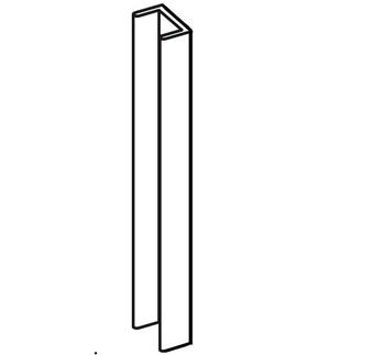 Торцевая, L=150 мм для цокольного профиля