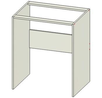 Стол под стиральную машину без дверей, 700х515х820, 1 кат. Лопасня мебель