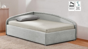 Кровать с подъемным механизмом Угловая 900 с блоком независимых пружин, Боровичи мебель