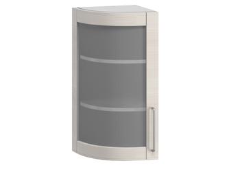 В-21В левый Шкаф-витрина торцевой гнутый 320х320х700 (II категория), Боровичи мебель