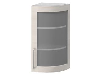 В-21В правый Шкаф-витрина торцевой гнутый 320х320х700 (II категория), Боровичи мебель