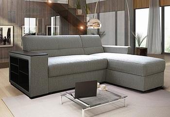 Угловой диван Виктория 2-1 1400 боковина с полкой, Боровичи мебель