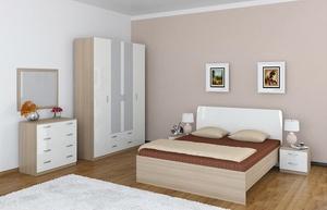 Спальня от Боровичей, в цвете ясень шимо/белый глянец